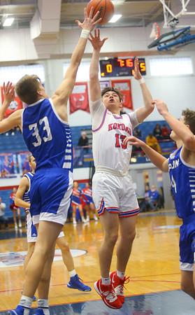 2-8-20<br /> Basketball Day-Kokomo vs Tipton<br /> Kokomo's Bobby Wonnell puts up a shot.<br /> Kelly Lafferty Gerber | Kokomo Tribune