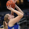 2-26-21<br /> Ashlee Schram shooting for the Tipton Blue Devils who lose to Linton-Stockton Miners in the class 2A girls State Finals at Bankers Life.<br /> Tim Bath | Kokomo Tribune