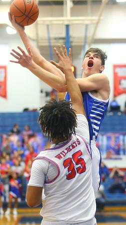 2-8-20<br /> Basketball Day-Kokomo vs Tipton<br /> Tipton's Sam Ridgeway puts up a shot.<br /> Kelly Lafferty Gerber   Kokomo Tribune