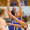 2-4-20<br /> Tri-Central vs Wes-Del girls basketball sectional<br /> TC's Brittany Temple shoots.<br /> Kelly Lafferty Gerber | Kokomo Tribune