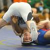 2-1-20<br /> Sectional wrestling<br /> Western's Anthony Martin defeats Kokomo's Harvey Barr in the 106.<br /> Kelly Lafferty Gerber | Kokomo Tribune