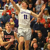 2-11-20<br /> Northwestern vs Blackford boys basketball<br /> NW's Ben Beachy puts up a shot.<br /> Kelly Lafferty Gerber | Kokomo Tribune