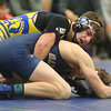 2-1-20<br /> Sectional wrestling<br /> Tri Central's Ethan Mason is defeated by Oak Hill's Aidan Hardcastle in the 152.<br /> Kelly Lafferty Gerber | Kokomo Tribune