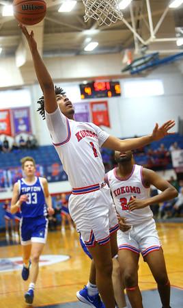 2-8-20<br /> Basketball Day-Kokomo vs Tipton<br /> Kokomo's Savion Barrett shoots.<br /> Kelly Lafferty Gerber | Kokomo Tribune