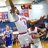 2-8-20<br /> Basketball Day-Kokomo vs Tipton<br /> Kokomo's Savion Barrett shoots.<br /> Kelly Lafferty Gerber | Kokomo Tribune