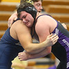 2-1-20<br /> Sectional wrestling<br /> Northwestern's Julion Creason is defeated by Oak Hill's Fred Durben in the 220.<br /> Kelly Lafferty Gerber | Kokomo Tribune