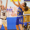 2-4-20<br /> Tri-Central vs Wes-Del girls basketball sectional<br /> TC's Brittany Temple makes a pass.<br /> Kelly Lafferty Gerber | Kokomo Tribune