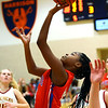 2-5-21<br /> Kamaria White makes a 2 pointer as Kokom girls loose to McCulcheon in Friday evenings sectional basketball match up in West Lafayette.<br /> Tim Bath | Kokomo Tribune