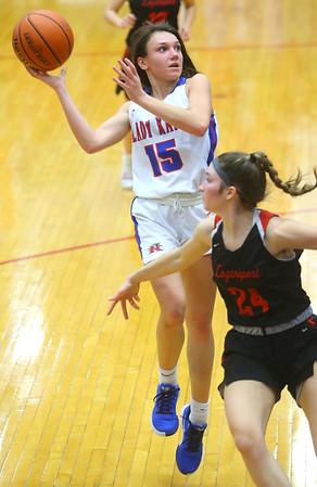 1-10-20<br /> Kokomo vs Logansport girls basketball<br /> Kokomo's Chloe McClain shoots.<br /> Kelly Lafferty Gerber | Kokomo Tribune