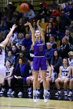 McKenna Layden puts up a 3 pointer in the first half as Western High School hosts Northwestern girls basketball on January 21, 2020.<br /> Tim Bath   Kokomo Tribune