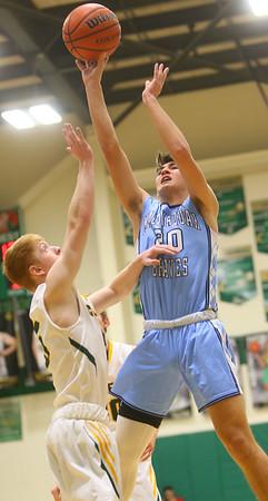 1-7-20<br /> Eastern vs Maconaquah boys basketball<br /> Mac's Feenix Kile shoots.<br /> Kelly Lafferty Gerber   Kokomo Tribune