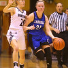 1-16-20<br /> Western vs Carroll girls basketball<br /> Carroll's Megan Wagner takes the ball down the court.<br /> Kelly Lafferty Gerber | Kokomo Tribune
