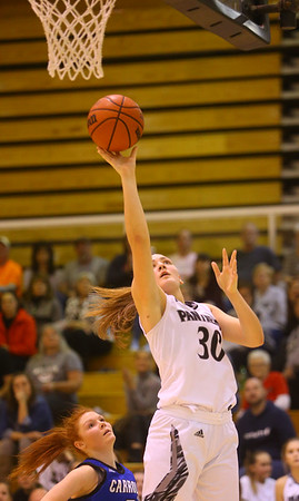 1-16-20<br /> Western vs Carroll girls basketball<br /> Western's Haley Scott shoots.<br /> Kelly Lafferty Gerber | Kokomo Tribune