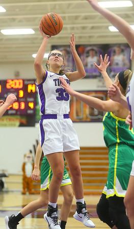 1-8-20<br /> Northwestern vs Eastern girls basketball<br /> NW's Madison Layden puts up a shot.<br /> Kelly Lafferty Gerber   Kokomo Tribune