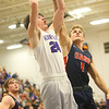 1-24-20<br /> Northwestern vs Cass boys basketball<br /> NW's Mason Estle puts up a shot.<br /> Kelly Lafferty Gerber | Kokomo Tribune
