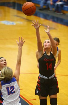 1-10-20<br /> Kokomo vs Logansport girls basketball<br /> Logansport's Justine Brown shoots.<br /> Kelly Lafferty Gerber   Kokomo Tribune
