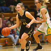 1-30-20<br /> Eastern vs Peru girls basketball<br /> Peru's Emma Eldridge takes the ball down the court.<br /> Kelly Lafferty Gerber | Kokomo Tribune