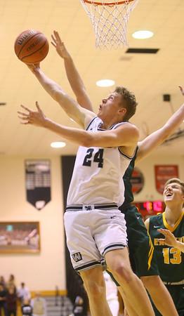1-25-20<br /> Western vs Eastern boys basketball<br /> Western's Evan Kretz puts up a shot.<br /> Kelly Lafferty Gerber | Kokomo Tribune
