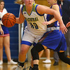 1-22-20<br /> Tri Central vs Elwood girls basketball<br /> Tri Central's Gracie Grimes looks for a pass.<br /> Kelly Lafferty Gerber | Kokomo Tribune