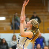 1-22-20<br /> Tri Central vs Elwood girls basketball<br /> Tri Central's Kenadie Fernung shoots.<br /> Kelly Lafferty Gerber | Kokomo Tribune