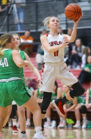 1-17-20<br /> Taylor vs CC girls basketball<br /> Taylor's Emma Good puts up a shot.<br /> Kelly Lafferty Gerber   Kokomo Tribune