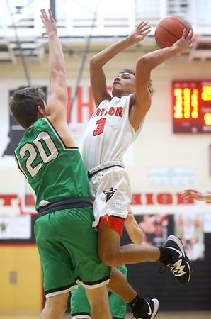 1-17-20<br /> Taylor vs CC boys basketball<br /> Taylor's Jaylen Harris shoots.<br /> Kelly Lafferty Gerber   Kokomo Tribune