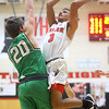 1-17-20<br /> Taylor vs CC boys basketball<br /> Taylor's Jaylen Harris shoots.<br /> Kelly Lafferty Gerber | Kokomo Tribune