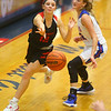 1-10-20<br /> Kokomo vs Logansport girls basketball<br /> Logansport's Erica White makes a pass.<br /> Kelly Lafferty Gerber | Kokomo Tribune