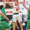 1-17-20<br /> Taylor vs CC boys basketball<br /> Taylor's Ryley Gilbert throws a pass.<br /> Kelly Lafferty Gerber | Kokomo Tribune