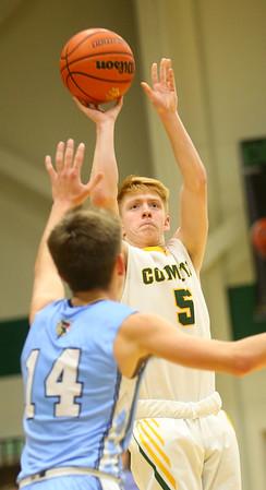 1-7-20<br /> Eastern vs Maconaquah boys basketball<br /> Eastern's Levi Mavrick puts up a shot.<br /> Kelly Lafferty Gerber | Kokomo Tribune