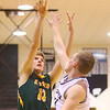 1-25-20<br /> Western vs Eastern boys basketball<br /> Eastern's Evan Monize puts up a shot.<br /> Kelly Lafferty Gerber | Kokomo Tribune