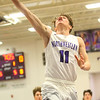 1-24-20<br /> Northwestern vs Cass boys basketball<br /> NW's Nathan Bennett shoots.<br /> Kelly Lafferty Gerber | Kokomo Tribune