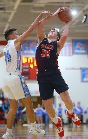 1-31-20<br /> Maconaquah vs Cass boys basketball<br /> Cass' Isaac Chambers puts up a shot.<br /> Kelly Lafferty Gerber | Kokomo Tribune