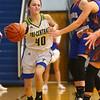 1-22-20<br /> Tri Central vs Elwood girls basketball<br /> Tri Central's Meghan Grubb tosses a pass.<br /> Kelly Lafferty Gerber | Kokomo Tribune