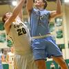 1-7-20<br /> Eastern vs Maconaquah boys basketball<br /> Mac's Sam Bourne puts up a shot.<br /> Kelly Lafferty Gerber | Kokomo Tribune