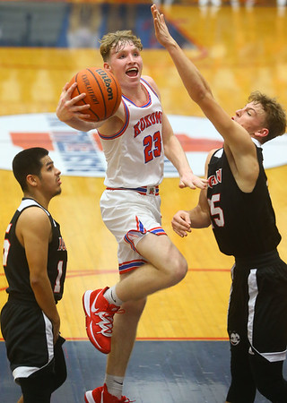 1-10-20<br /> Kokomo vs Logansport girls basketball<br /> Kokomo's Jackson Richards shoots.<br /> Kelly Lafferty Gerber   Kokomo Tribune
