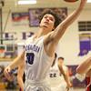 1-24-20<br /> Northwestern vs Cass boys basketball<br /> NW's Ethan Kinney grabs a rebound.<br /> Kelly Lafferty Gerber | Kokomo Tribune