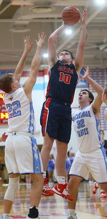 1-31-20<br /> Maconaquah vs Cass boys basketball<br /> Cass' Austin Holt puts up a shot.<br /> Kelly Lafferty Gerber | Kokomo Tribune