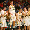 1-7-20<br /> Eastern vs Maconaquah boys basketball<br /> Eastern's starters cheer for the non-starters in the last 30 seconds of the game.<br /> Kelly Lafferty Gerber | Kokomo Tribune