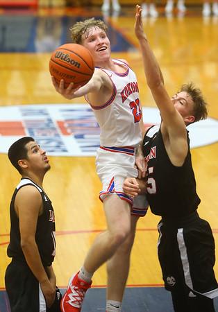 1-10-20<br /> Kokomo vs Logansport girls basketball<br /> Kokomo's Jackson Richards shoots.<br /> Kelly Lafferty Gerber | Kokomo Tribune