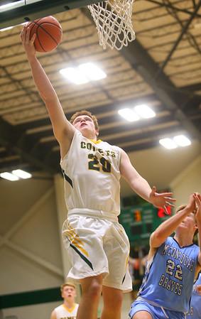1-7-20<br /> Eastern vs Maconaquah boys basketball<br /> Eastern's Austin Roberts puts up a shot.<br /> Kelly Lafferty Gerber | Kokomo Tribune