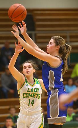 1-14-20<br /> Eastern vs Tipton girls basketball<br /> Tipton's Abigail Parker shoots.<br /> Kelly Lafferty Gerber | Kokomo Tribune
