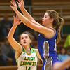 1-14-20<br /> Eastern vs Tipton girls basketball<br /> Tipton's Abigail Parker shoots.<br /> Kelly Lafferty Gerber | Kokomo Tribune