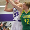 1-8-20<br /> Northwestern vs Eastern girls basketball<br /> NW's Madison Layden puts up the shot for her 2,000th point.<br /> Kelly Lafferty Gerber | Kokomo Tribune