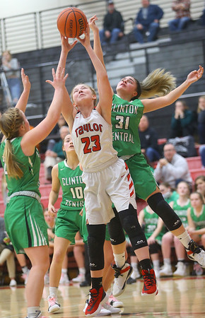 1-17-20<br /> Taylor vs CC girls basketball<br /> Taylor's Ashlen Kroczynski pulls down the rebound.<br /> Kelly Lafferty Gerber | Kokomo Tribune