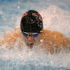 1-28-20<br /> Northwestern vs Western swimming<br /> Western's Pete Bradshaw in the boys 200 yard medley relay.<br /> Kelly Lafferty Gerber | Kokomo Tribune