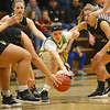 1-30-20<br /> Eastern vs Peru girls basketball<br /> Eastern's McKenzie Cooper goes after a loose ball.<br /> Kelly Lafferty Gerber | Kokomo Tribune