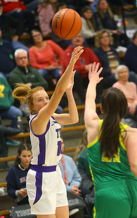 1-8-20<br /> Northwestern vs Eastern girls basketball<br /> NW's Klair Merrell shoots.<br /> Kelly Lafferty Gerber | Kokomo Tribune