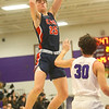 1-24-20<br /> Northwestern vs Cass boys basketball<br /> Cass' Tyson Good shoots.<br /> Kelly Lafferty Gerber | Kokomo Tribune