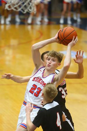 1-10-20<br /> Kokomo vs Logansport girls basketball<br /> Kokomo's Jackson Richards heads to the basket.<br /> Kelly Lafferty Gerber   Kokomo Tribune